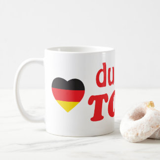 DU BIST TOLL GERMAN HEART FLAG COFFEE MUG