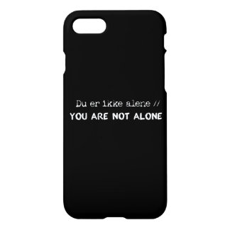 du er ikke alene/you are not alone iPhone 8/7 case