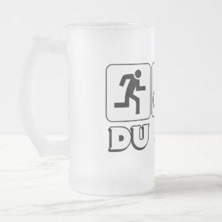 DU or Die Frosted Glass Beer Mug