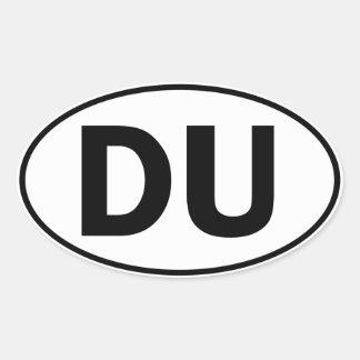 DU Oval Identity Sign Oval Stickers
