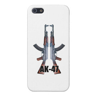 Dual AK-47 Assault Rifles Cover For iPhone 5