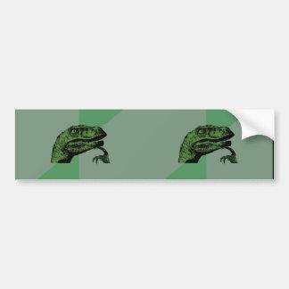 Dual Blank Philosoraptor Bumpre Stickers Bumper Sticker