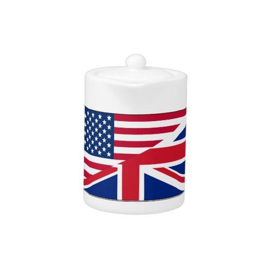 Dual Citizen American British Flag Teapot