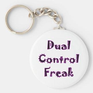 Dual Control Freak Basic Round Button Key Ring