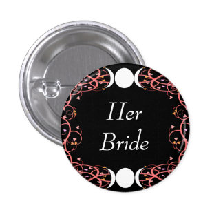 Dual Goddess Lesbian Her Bride Pin for Wiccans