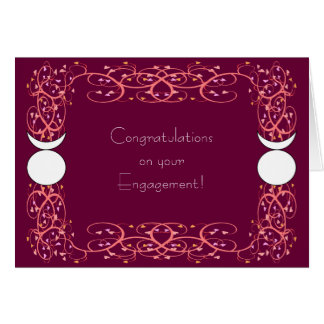 Dual Horned God Gay Wiccan Engagement Congrats Greeting Card