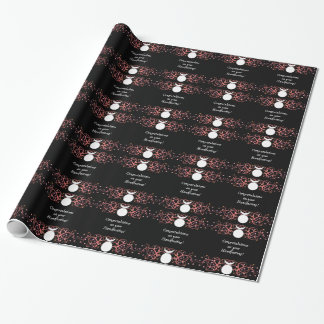 Dual Horned God Giftwrap for Gay Pagan Grooms Wrapping Paper