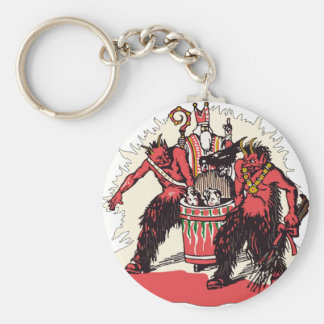 Dual Krampus and Old St. Nick Key Ring