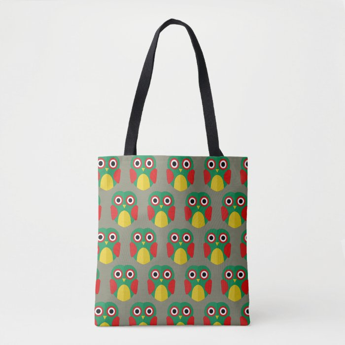 dual-side owl tote bag