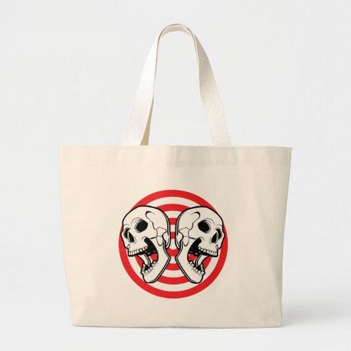 Dual Skull Target Jumbo Tote Bag