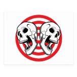 Dual Skull Target Postcard