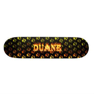 Duane skateboard fire and flames design.