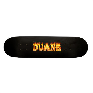 Duane skateboard fire and flames design.