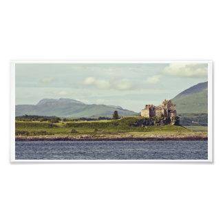 Duart Castle and the Isle of Mull Panorama Art Photo