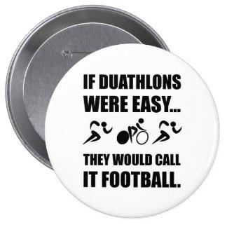 Duathlon Football 10 Cm Round Badge