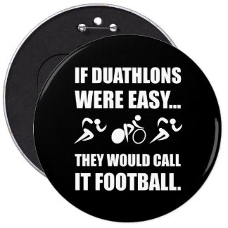 Duathlon Football 6 Cm Round Badge