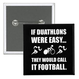 Duathlon Football 15 Cm Square Badge