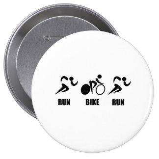 Duathlon Run Bike Run 10 Cm Round Badge