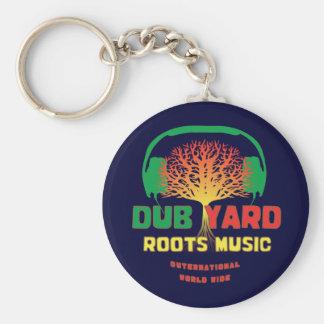 Dub Yard Roots Music Basic Round Button Key Ring