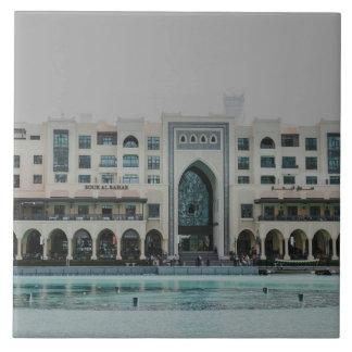 Dubai architecture large square tile