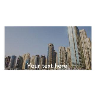 Dubai architecture personalised photo card