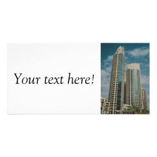 Dubai architecture personalized photo card
