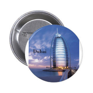 Dubai Burj Al Arab Hotel (by St.K) 6 Cm Round Badge