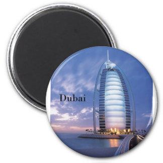 Dubai Burj Al Arab Hotel (by St.K) 6 Cm Round Magnet