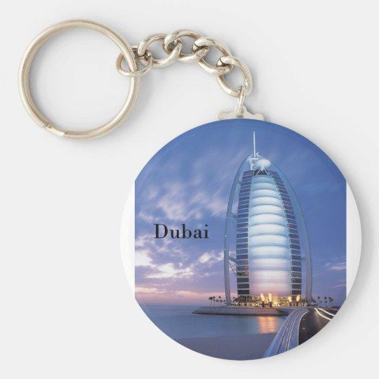 Dubai Burj Al Arab Hotel (by St.K) Basic Round Button Key Ring