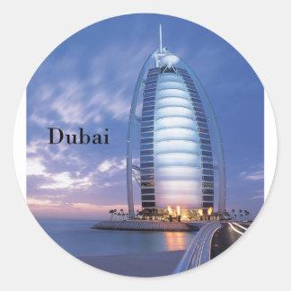 Dubai Burj Al Arab Hotel (by St.K) Round Sticker