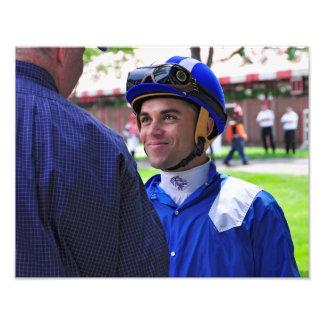 Dubai Derby winning jockey Joel Rosario Photo Print