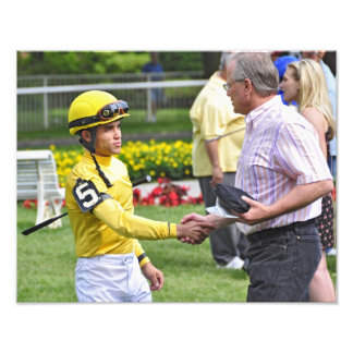 Dubai Derby winning jockey Joel Rosario Photographic Print