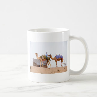 Dubai desert basic white mug