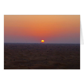dubai desert sunset card