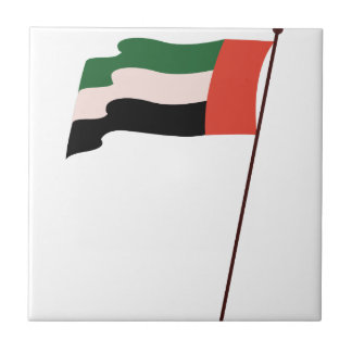 Dubai Flag Small Square Tile