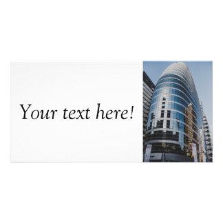 Dubai glass skyscraper personalized photo card