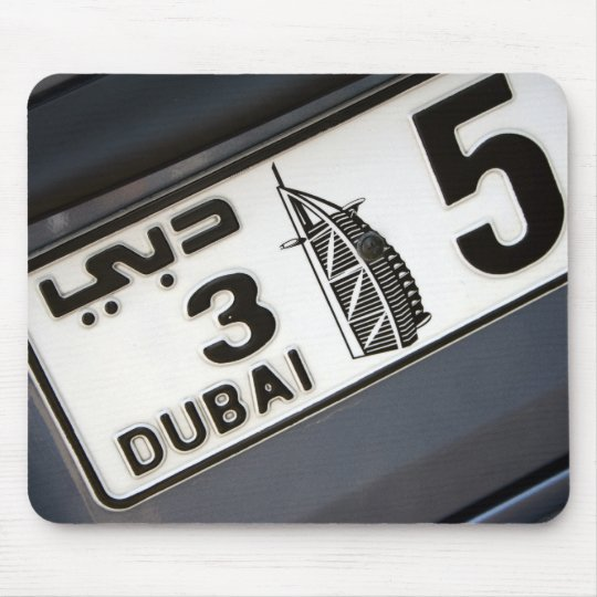 Dubai License Plate Mouse Mat