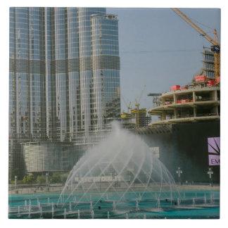 Dubai Mall fountain Large Square Tile