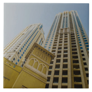 Dubai Marina architecture Large Square Tile