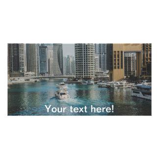 Dubai Marina architecture Personalised Photo Card