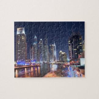 Dubai Marina at night, United Arab Emirates Jigsaw Puzzle