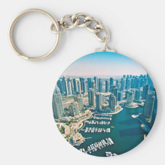 Dubai Marina Basic Round Button Key Ring