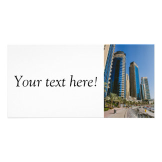 Dubai Marina skyscrapers Photo Cards