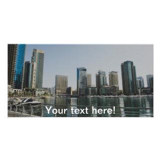 Dubai Marina skyscrapers Photo Greeting Card