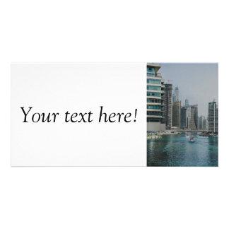 Dubai Marina skyscrapers Picture Card