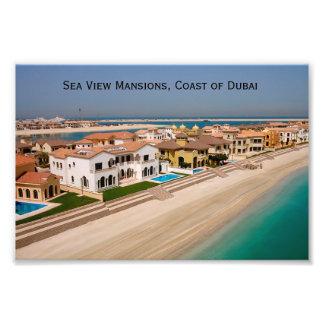 Dubai Real Estate Mansions, Coast of Dubai Photo Print