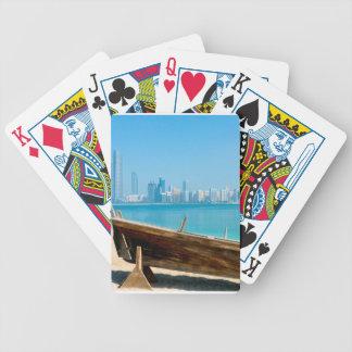 Dubai skyline bicycle playing cards