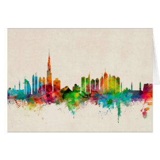 Dubai Skyline Card