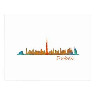 Dubai Skyline Cityscape v1 Postcard