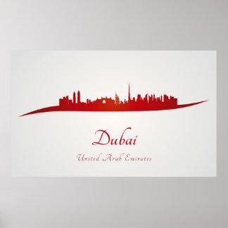 Dubai skyline in network poster